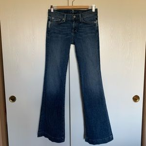 7 For All Mankind Dojo Flare Jeans Med Wash Sz 26